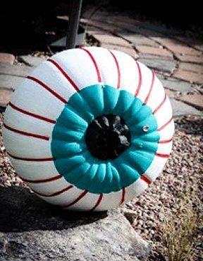 Paint an eyeball pumpkin like this one
