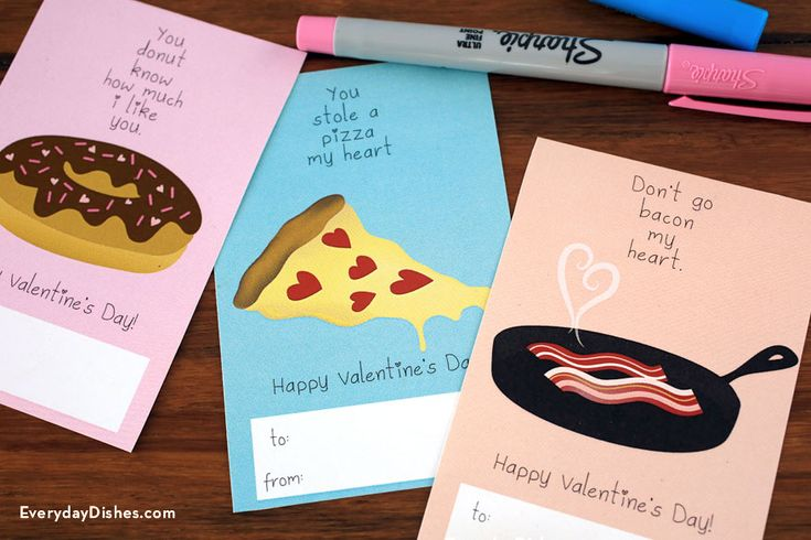 Printable food Valentine card! Why spend up to TEN DOLLARS on a Valentine's Day Card at the store! #savethatmoneyforthegift
