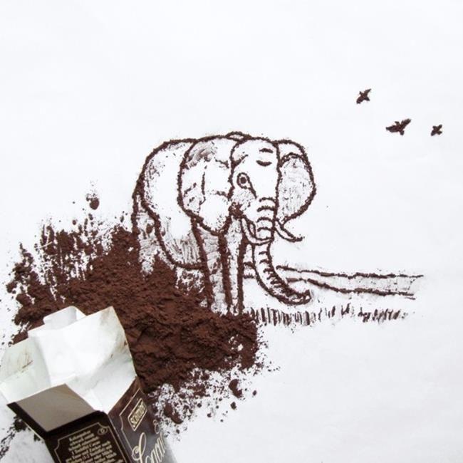 Çikolata ve Değişik Objeleri Sanatı İçin Kullanan Loana'dan Sevimli Çalışmalar Sanatlı Bi Blog 2