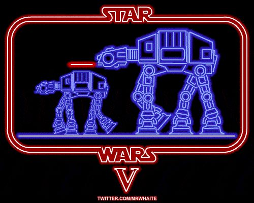 AT-AT Walkers in The Empire Strikes Back.