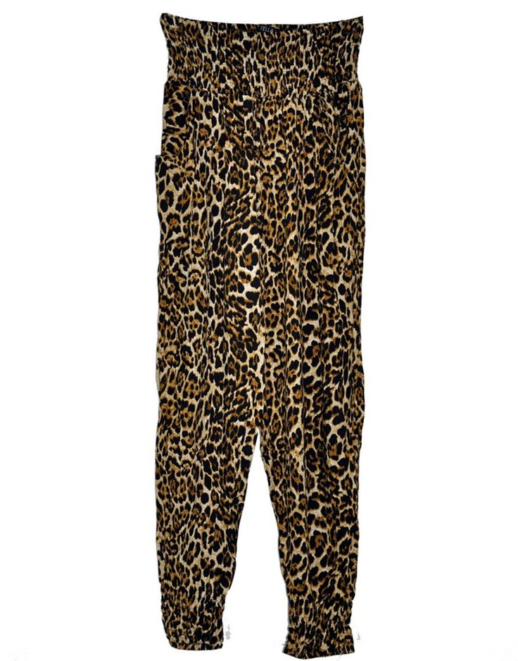 Harem Pants in Leopard Print