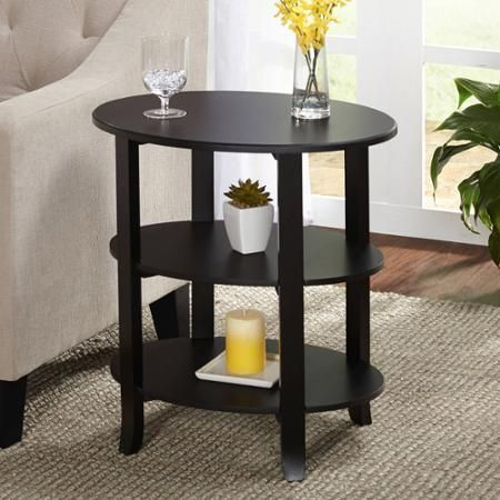 Table Furniture Home Decorating Oval End Table, Multiple Finishes Wood Indoor - Dining Sets