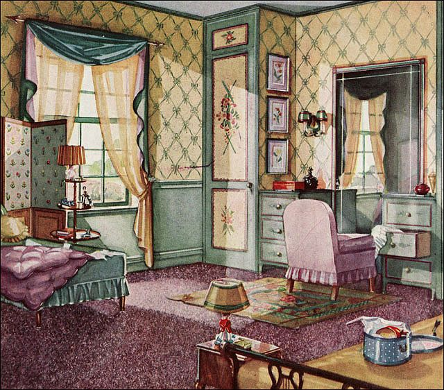 29 Best 1930s Bedroom Images On Pinterest