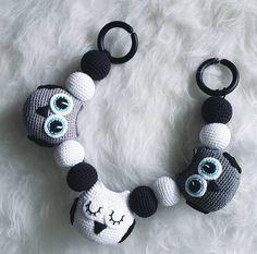 Crochet Owl Stroller Toy, Baby Mobile