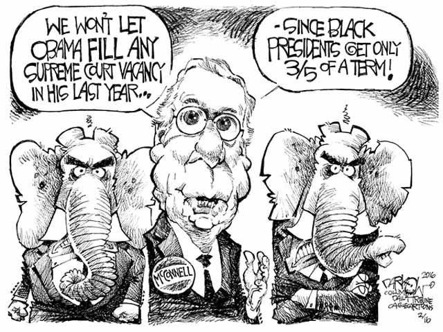 Court Blocking Obama Cartoon - Cagle Cartoons