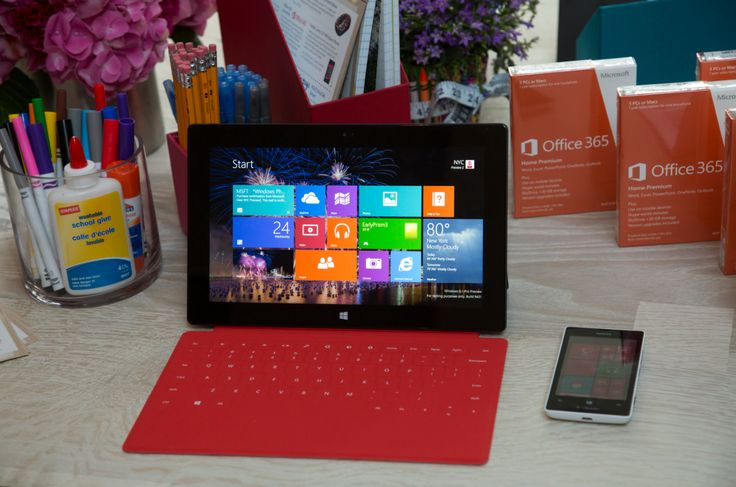 The perfect back to school combination: Surface Pro, Nokia Lumia 521, and Office 365.