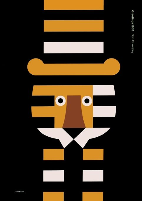 Graphic design students have a lot to thank the late designer Tom Eckersley for. Greetings 1983.