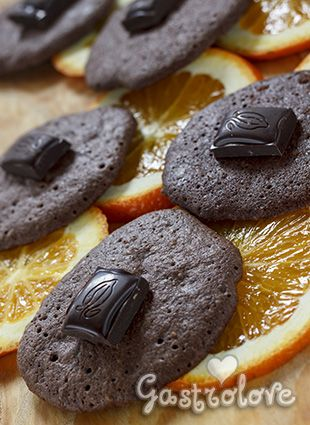 Chocolate and orange biscuit