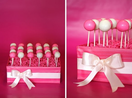 cute idea for displaying cake pops (Erin)