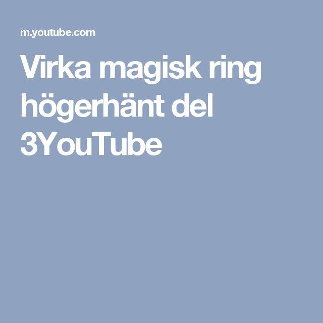 Virka magisk ring högerhänt del 3YouTube