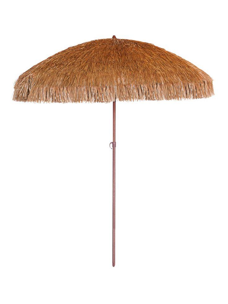 El parasol Fibra con mástil fabricado en acero y pintado en imitación madera, y con 8 varillas de sujeción fabricadas en fibra de vidrio, la copa del parasol esta hecha de fibra sintetica que imita a fibra natural, este parasol tiene un diseño perfecto para entornos que quieran no salirse de lo natural, su uso
