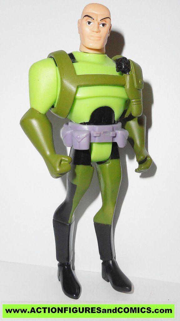 justice league unlimited LEX LUTHOR dark green pants superman action figures