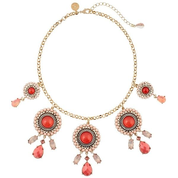 White House Black Market Coral Cabochon Statement Necklace ($50) ❤ liked on Polyvore featuring jewelry, necklaces, coral bubble necklace, cabochon jewelry, white house black market jewelry, cabochon necklace and coral necklaces