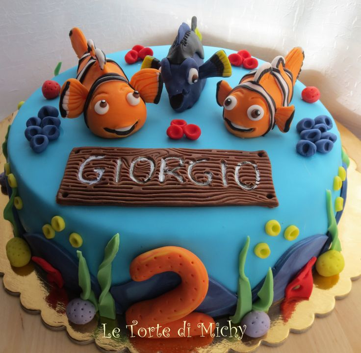 220 best le torte di michy cake design images on for Nemo cake template