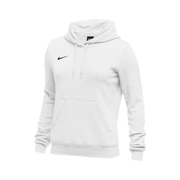 Nike Team Club Fleece Hoodie - Women's - Basketball - Clothing -... ($45) ❤ liked on Polyvore featuring tops, hoodies, fleece tops, nike hoodies, hooded sweatshirt, white and black hoodie and nike top