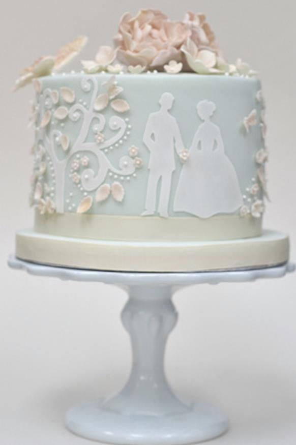 Absolutely the most perfect cake!!! Dixie Pearls rates it 10+ pearls! fondant cameos & sugar flowers
