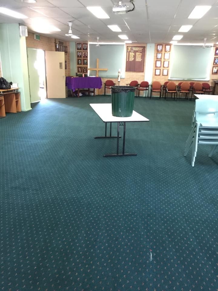 Steam Carpet cleaning at Marist College Pagewood