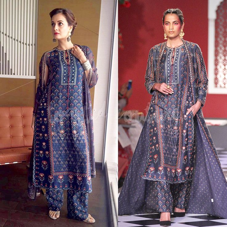 Dia Mirza in Anita Dongre. Read more http://fashionpro.me/dia-mirza-nails-ethnic-look-anita-dongre
