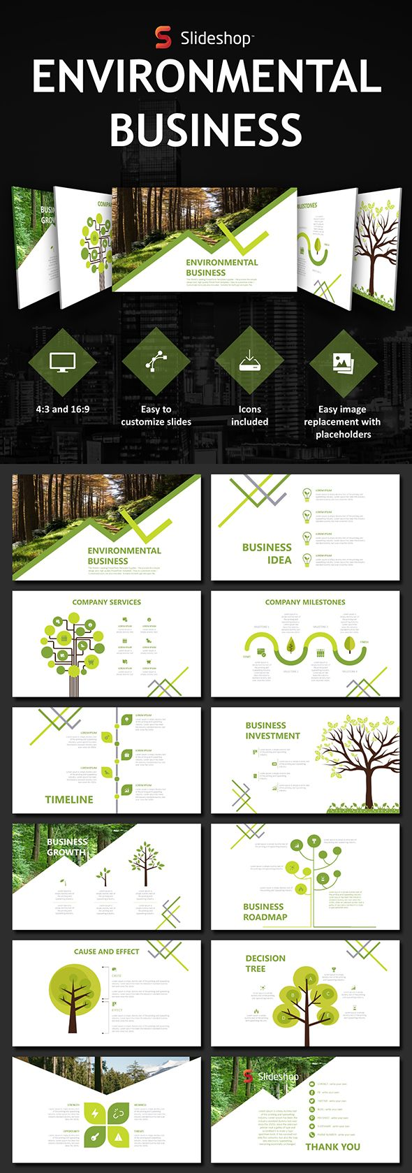 Environmental Business - PowerPoint Templates Presentation Templates