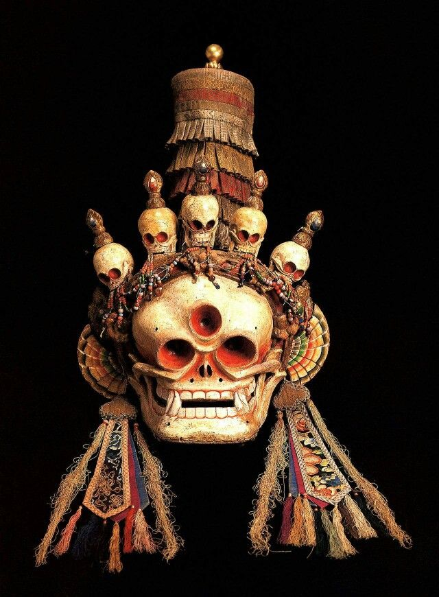 mask from Mongolia of the 'Citipati Lord of the Cemetery'