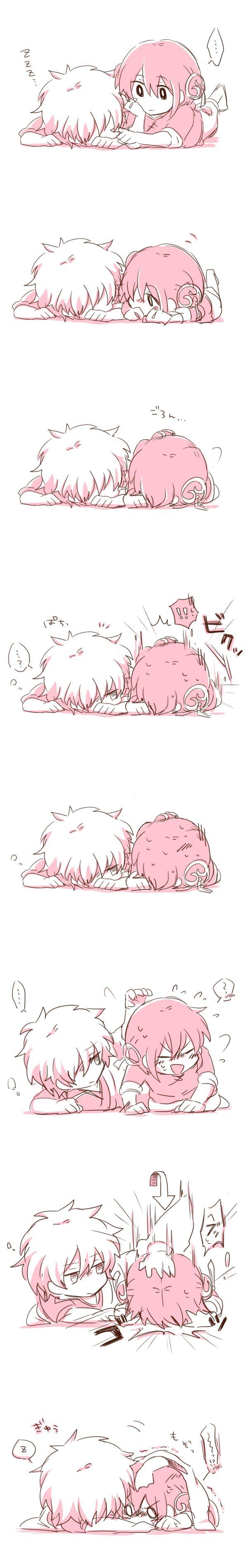 Tags: Anime, Gin Tama, Sakata Gintoki, Hair Buns, Kagura (Gin Tama), Pixiv Id 2274567