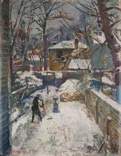 KENNETH GREEN Chelsea Garden under Snow (The Black Spider, 1942)