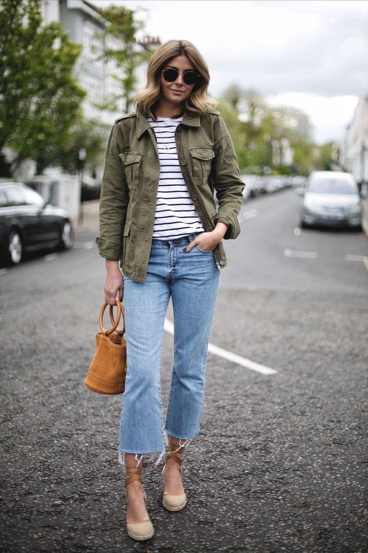 1bf7f2340607 Emma Hill wears khaki utility jacket