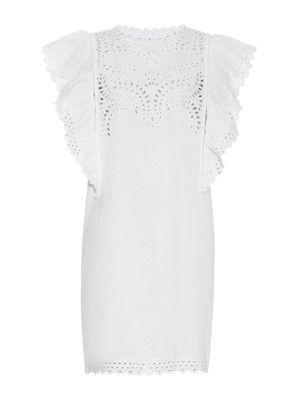 Scarla broderie-anglaise cotton dress | Isabel Marant Étoile | MATCHESFASHION.COM US
