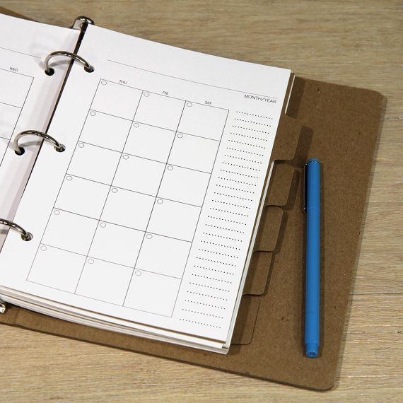 DIY Planner Pages For 3-ring Binder