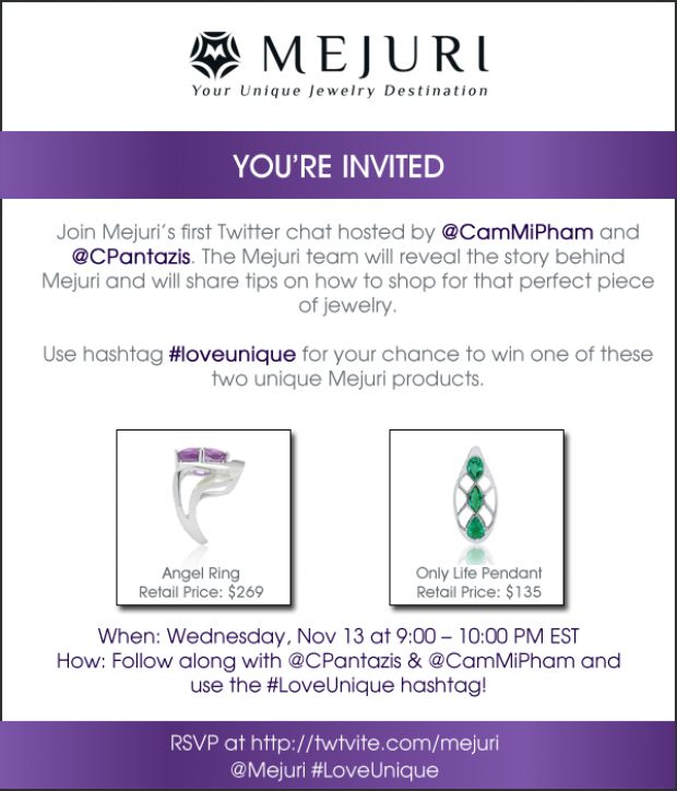 Mejuri #LoveUnique Twitter Chat #Mejuri @Mejuri Jewelry #toronto #Twitter #Events #Jewelry #LOVE