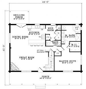 The Winfield Log Home Plan