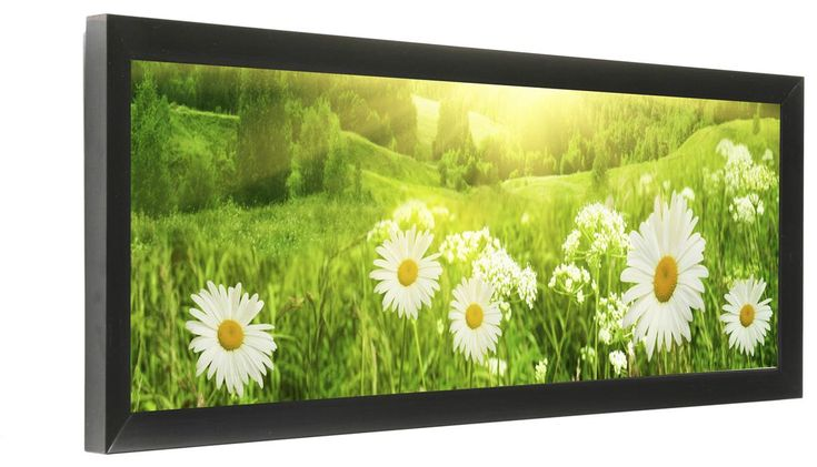 24 x 8 Panoramic Picture Frame for Wall Mount Use, 1-inch Profile - Black