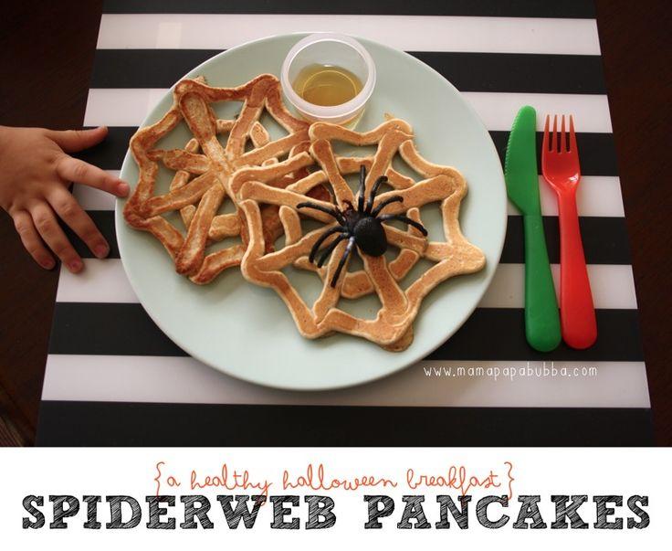 {Healthy Wholewheat} Spiderweb Pancakes | Mama.Papa.Bubba.