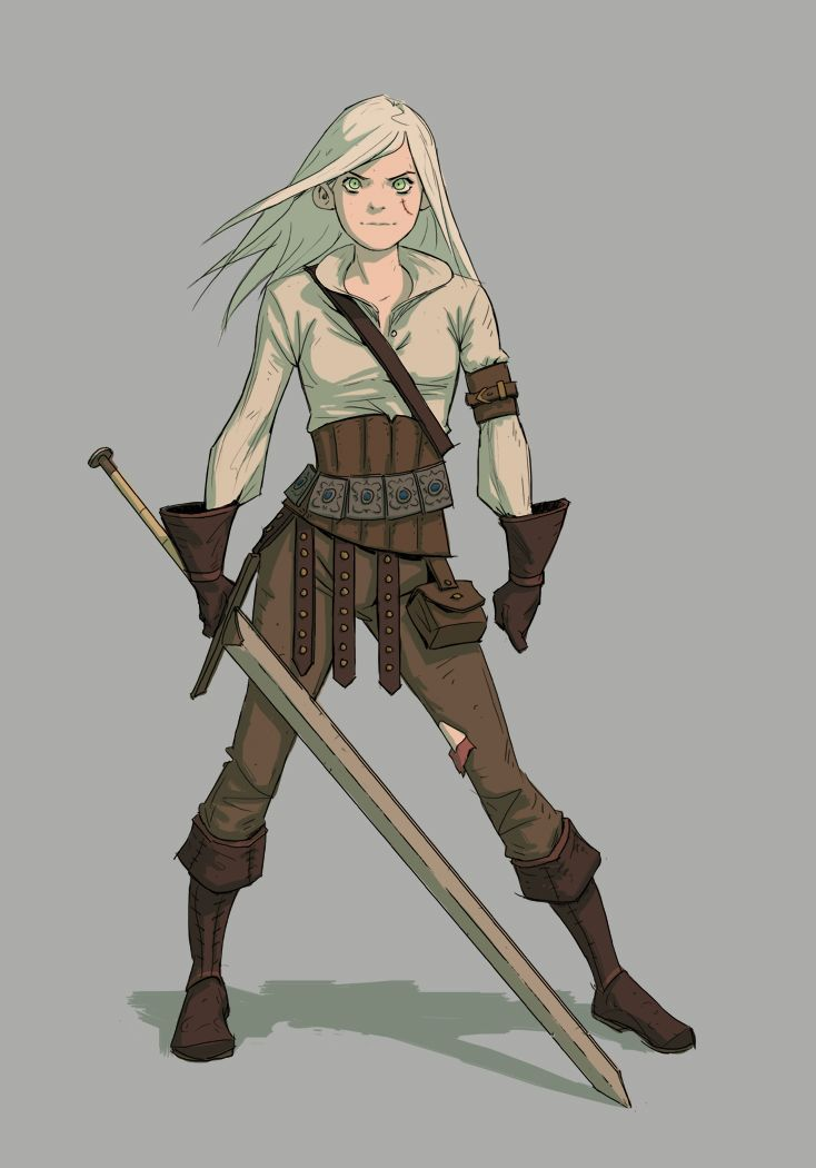 The Witcher,Ведьмак, Witcher, ,Игры,Цири,Игровой арт,game art
