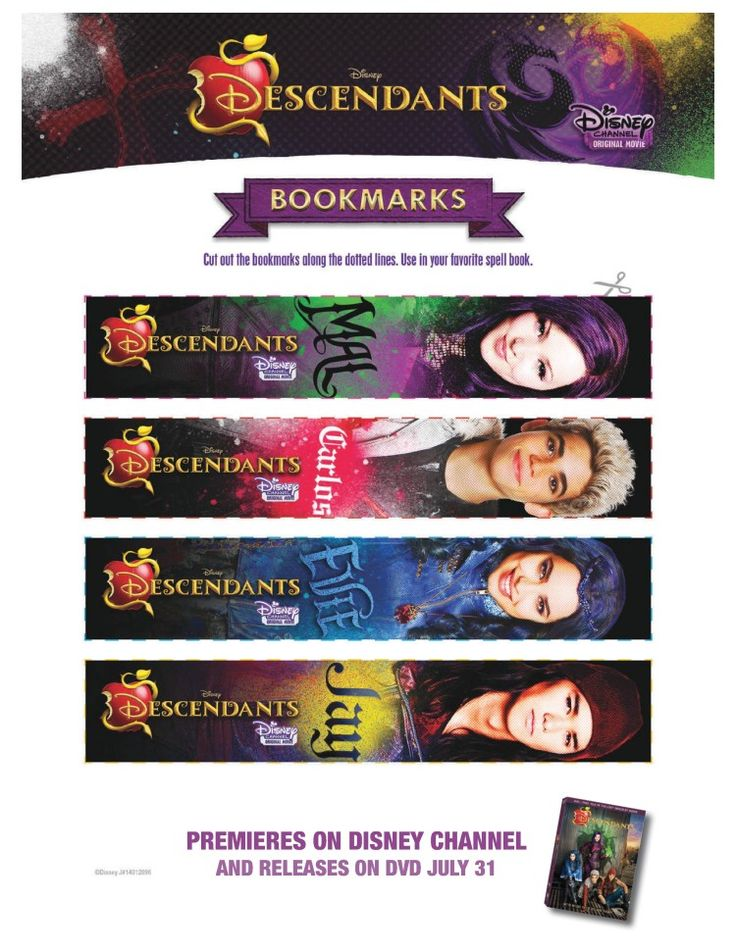 disney descendants bookmarks family tree activity and create a magical story fsm media find this pin and more on kids printables coloring pages