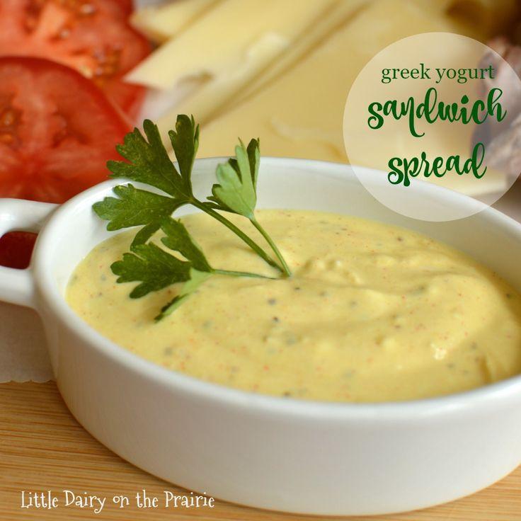 Quer vestir o seu sanduíche e ficar magro demais Tente minha cremosa Sandwich propagação Iogurte grego!  Delicioso!