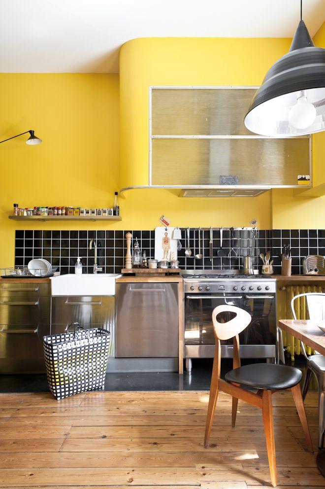 14 best Cocinas amarillas images on Pinterest | Yellow kitchens ...