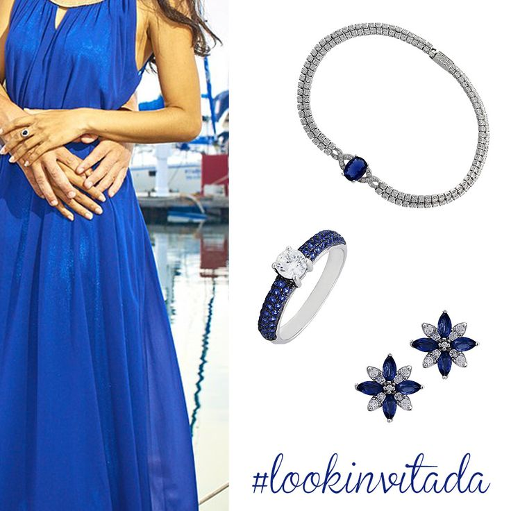 Look invitada azul