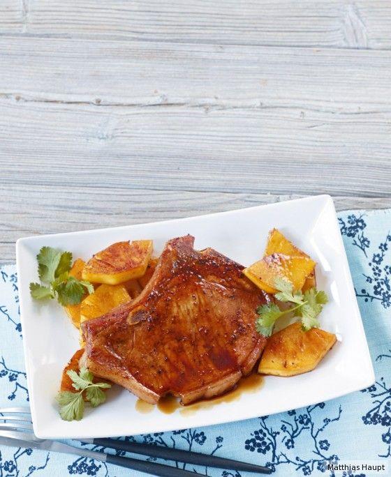 Mit einem ehrlichen Stück Fleisch kann man's ja machen: asiatisch würzen, fruchtig servieren – und selbst glänzen.