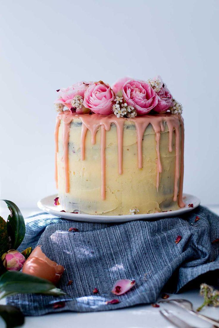 Lemon, Almond & Raspberry Layer Cake