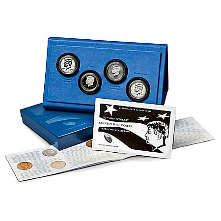 The All-New 50th Anniversary Kennedy Silver Half Dollars Coin Set