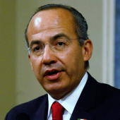 Felipe Calderón was elected in 2006 in a highly controversial election, but has since gone on to see his approval ratings rise on account of his aggressive war on Mexico's powerful, wealthy drug cartels. He declared war on them, sending army forces to control lawless towns and extraditing drug lords to face US charges. Violence is up, however, as cartels get increasingly desperate.