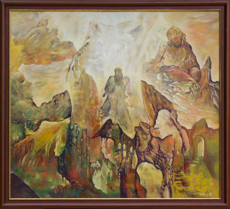 Seeking for Light Size: 90 x 100 cm, oil on woodfibre