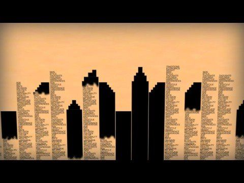 Human Rights in typographic and animation form; multiple languages available in animated form; created by Human Rights Action Center