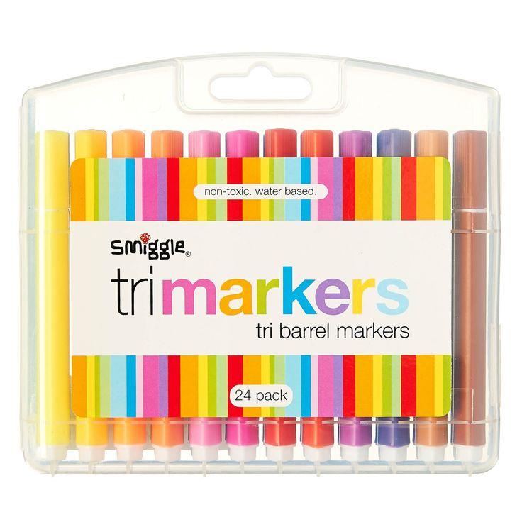 Tri Barrel Markers X 24 | Smiggle @westfieldnz