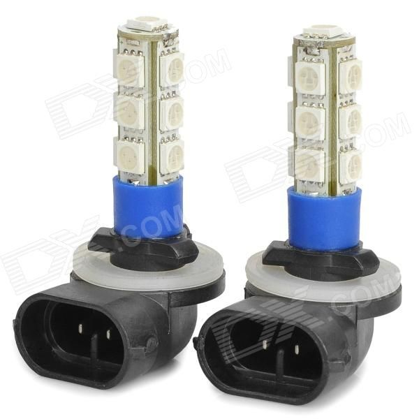 Quantity: 2 Piece; Casing Color: White; Emitter Type: 5050 SMD LED; Total Emitters: 13; Light Color: Blue; Rated Voltage: 12V; Power: 3W; Luminous Flux: 120~150lm; Color Temperature: N/A; Connector Type: 881; Application: Decoration light, Brake light, Headlamp, Backup light; Packing List: 2 x Lamps; http://j.mp/1vnV1Ye