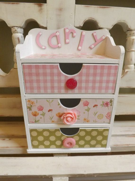 Personalized Jewelry Box Trinkets Chest Collectibles Floral Gift for Girls Pink Green Princess Treasure Chest