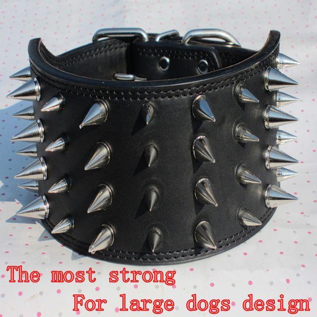 Grote hond Wees klinknagels kraag Middelgrote hondenriem Hoeden hond harnas huisdier nekkoord voor Giant honden  S
