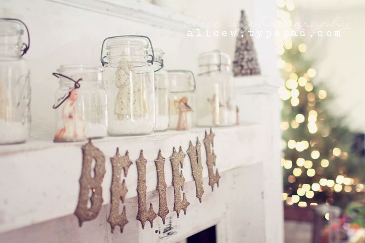 Vintage Mantel Christmas Vignette: Christmas 2012, Mantel Decor, Mason Jar Mantel, Christmas Mantel Decor, Christmas Decor, Mason Jars, Christmas Mantels