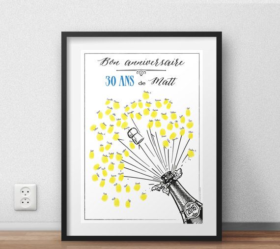 Guest book alternative fun gift for birthday party bottle of champagne